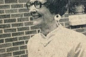 Black and white photograph of Principal Rose Rogers that appeared in the Alexandria Gazette newspaper on May 25, 1978.